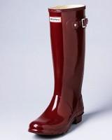 bordo kadın hunter yağmur botu çizme