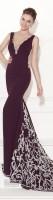 bordo kalın askılı uzun tarık ediz abiye elbise