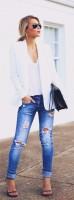 boyfriend tarzı mavi jeans kot pantolon
