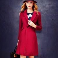 ceket palto kadın kaşe mont modası kırmızı