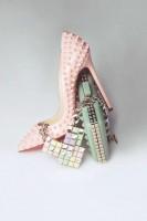 christian louboutin pembe yüksek topuk ayakkabı kadın