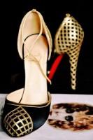 christian louboutin yüksek topuk gece ayakkabısı kadın