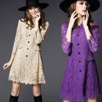 dantel elbise krem mor lila kadın siyah şapka