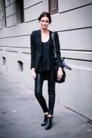 deri ayakkabı kadın blazer ceket siyah pantalon