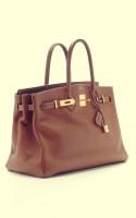 deri kahverengi kol çantası hermes