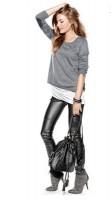 deri siyah kadın pantolon süet ayakkabı
