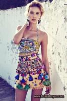 desenli mini elbise yazlık