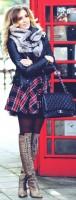 ekose elbise kadın ceket deri çanta