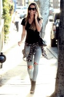 ekose gömlek yırtık kot boyfriend jeans kadın