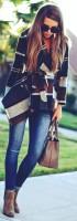 ekose kadın ceket mavi kot jean bot kadın gözlük