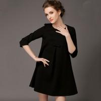 elbise siyah kadın pileli