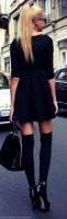 en tarz siyah mini elbise kombinleri