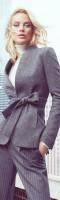 füme rengi kadın blazer ceket gri pantalon