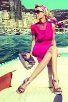 fuşya kısa elbise retro style tarz