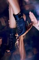 gece ayakkabısı siyah topuklu ince topuklu ayakkabı