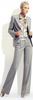 gri blazer ceket kumaş pantolon saten gömlek kombini