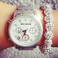 gri gümüş Michael kors kol saati bileklik