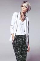 gri kırçıllı pantolon beyaz blazer ceket mango