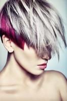 gri kızıl kısa saç modelleri