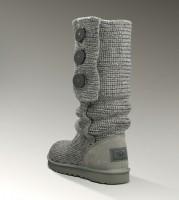 gri uzun ugg bot kadın boots düğmeli