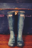 gri yağmur botu hunter çizme