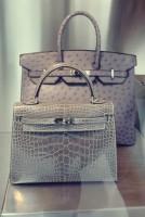 hermes açık gri kol çantası