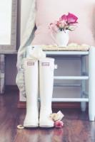 hunter beyaz yağmur çizmesi kadın bot