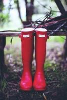 hunter kırmızı yağmur botu çizme kadın