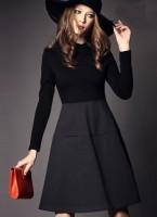 kışlık elbise füme siyah etek şapka kadın kırmızı