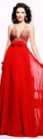kırmızı taş işlemeli uzun tarık ediz abiye elbise