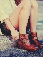 kısa bot kahverengi çizme