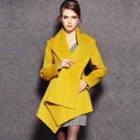 kaban palto ceket kaşe kadın sarı hardal rengi moda