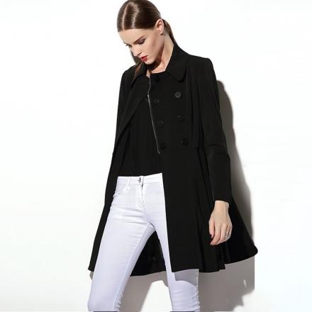 2015 kadın kış sezonu siyah mont kaban modelleri
