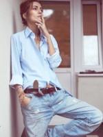 kadın jean boyfriend kot yırtık tarz moda