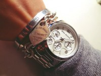 kadın kol saati Michael kors cartier kombin gümüş