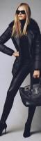 kadın siyah dar pantalon topuklu ayakkabı