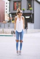 kadın yırtık kot boyfriend jeans