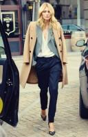 kahve ceket siyah kumaş pantalon stiletto