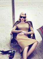 kahve kışlık elbise gözlük retro tarzı