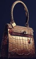 kahverengi deri hermes kol çantası