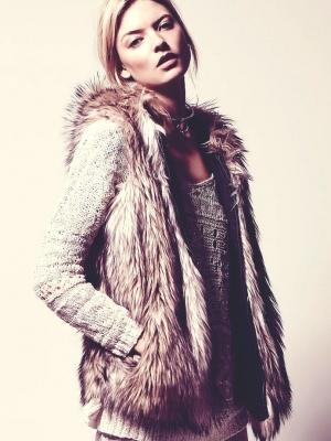 2015 Kürk yelek modası