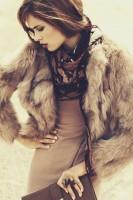 kahverengi kısa kürk ceket kadın kahve kazak