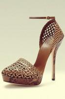 kahverengi kadın topuklu ayakkabı gucci