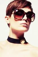 kahverengi leopar çerçeveli moda güneş gözlüğü micheal kors