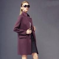 kahverengi palto kaşe kış şık kadın