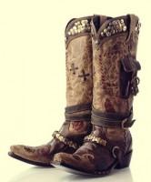 kahverengi zımbalı bot kovboy biker çizme