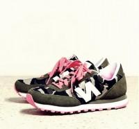 kamuflaj pembe kadın spor ayakkabı new blance