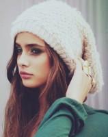 krem rengi bere kış şapka