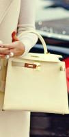 krem rengi deri hermes kol çantası