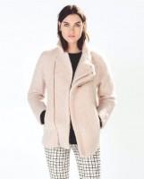 krem rengi kadın zara ceket kaban